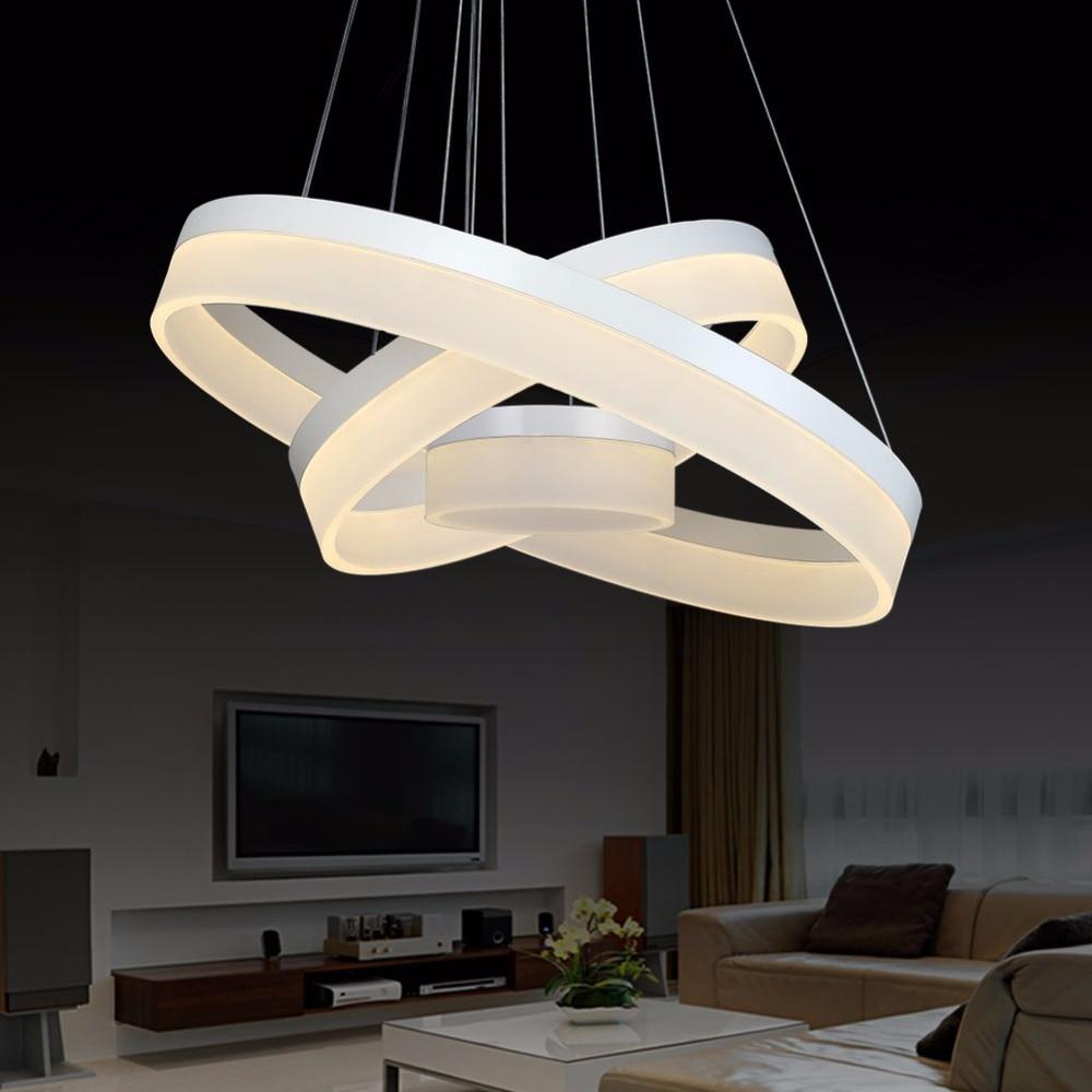 Modern Led Chandelier Dining Room Living Room Acrylic Lamp Home