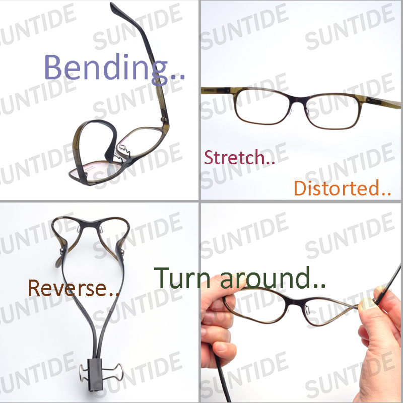 DHL free New material toughness fashion optical frame not easy to ...