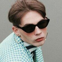 New Fashion Cat Eye Sunglasses 2019 Vintage Black Lens Brand Design Women Men Sun Glasses Gafas Oculos De Sol