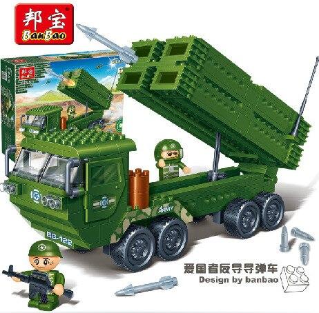Banbao modeli yapı kitleri ile uyumlu lego şehir ordu 585 3D blokları Eğitim çocuklar için model & yapı oyuncaklar hobiler