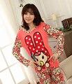 Novo 2015 do pijama femme de roupas pigiami pijamas mujer pijama feminino pijama manga larga entero aventura tempo