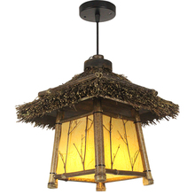 Handmade Vintage Bamboo Pendant Light Droplight Lantern Antique Loft Ceiling Inn Restaurant Cafe Bar Art Decoration Hanging Lamp mancoffee southeast asia bohemia glass vintage crystal ceiling light lantern bar