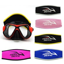 цены 5 Colors Diving Mask Head Strap Cover Mask Padded Protect Long Hair Band Strap-Wrapper Neoprene For Added Comfort Equipment Tool
