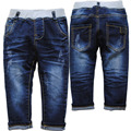 3952 baby boys jeans boy denim pants spirng&autumn navy blue elastic girls trousers very  nice baby jeans baby clothes