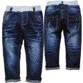 3952 bebés de los pantalones vaqueros de mezclilla muchacho spirng y otoño azul marino elástico niñas pantalones muy bonitos pantalones vaqueros del bebé bebé ropa