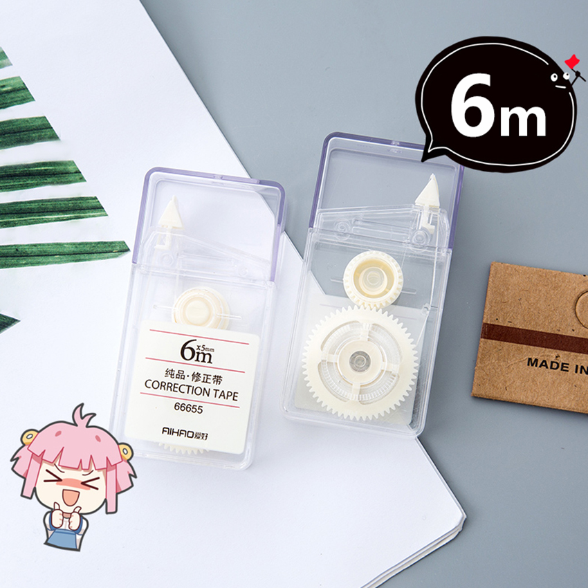 5mm*6m Correction Correcting Tape Student Gift Transparent Portable Diary School Supplies Simple Stationery Corrector Tape NEW