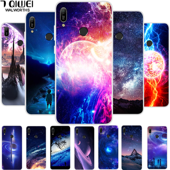 6.09'' For Huawei Y6 2019 Case Silicone Soft TPU Back Cover For Coque Huawei Y6 2019 Case Cover Y 6 2019 6Y Phone Cases Flower image