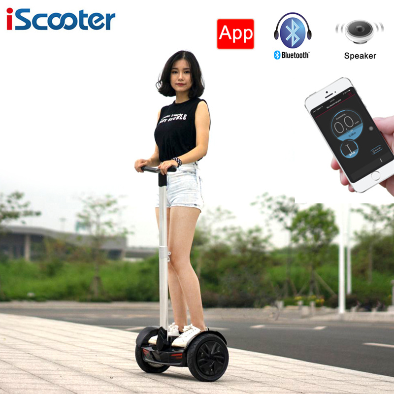 iscooter 10 inch handle bar hoverboard electric self. Black Bedroom Furniture Sets. Home Design Ideas