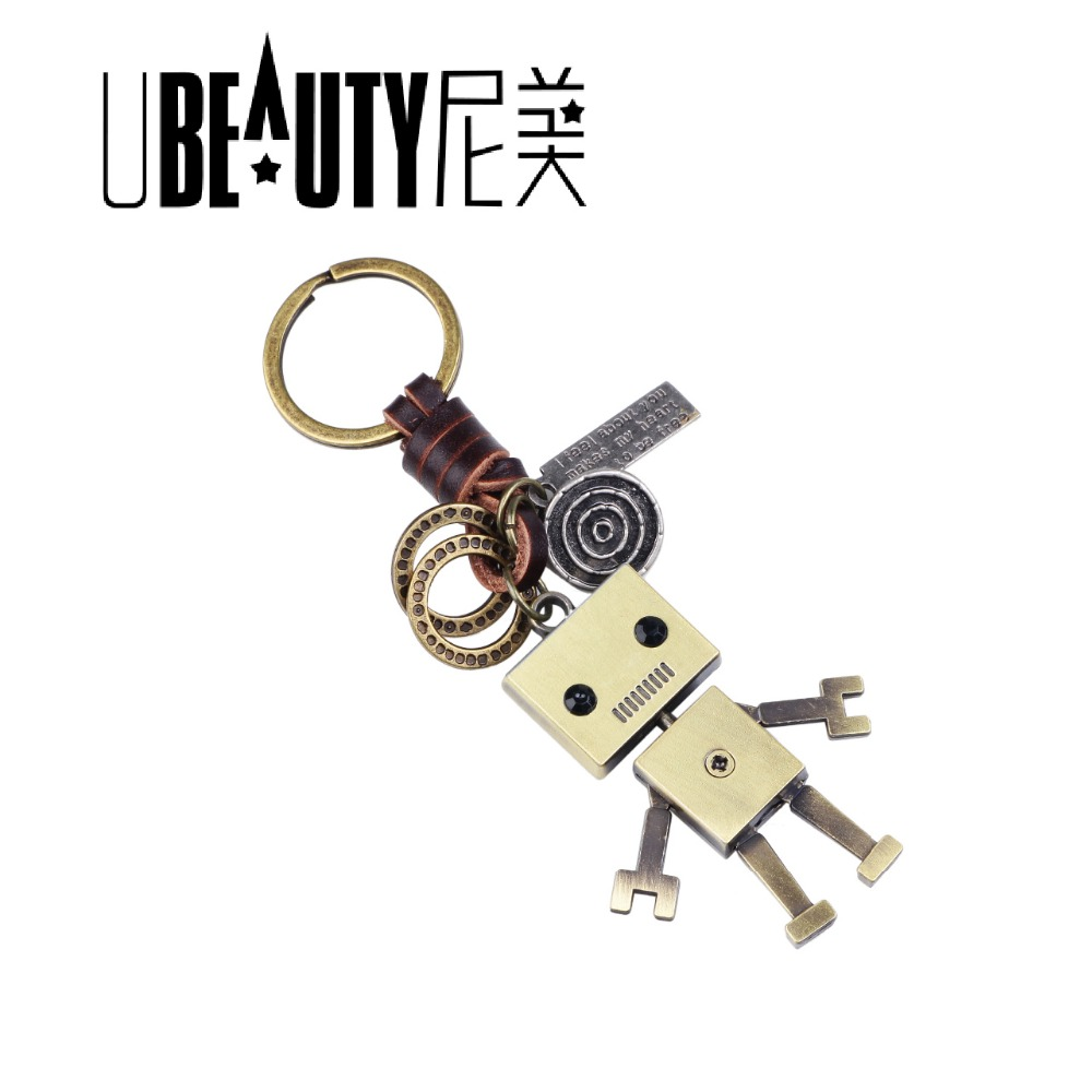 UBEAUTY Creative Jewelry Keyrings Kids Adults Birthday Present Men Woman Children Accessory Cute Alloy Robot Keychain