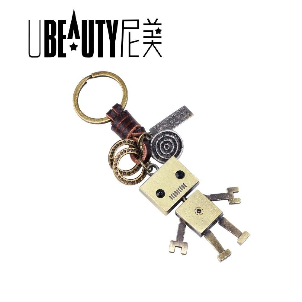 UBEAUTY Creative Jewelry Keyrings Kids Adults Birthday Present Men Woman Children Accessory Cute Alloy Robot Keychain