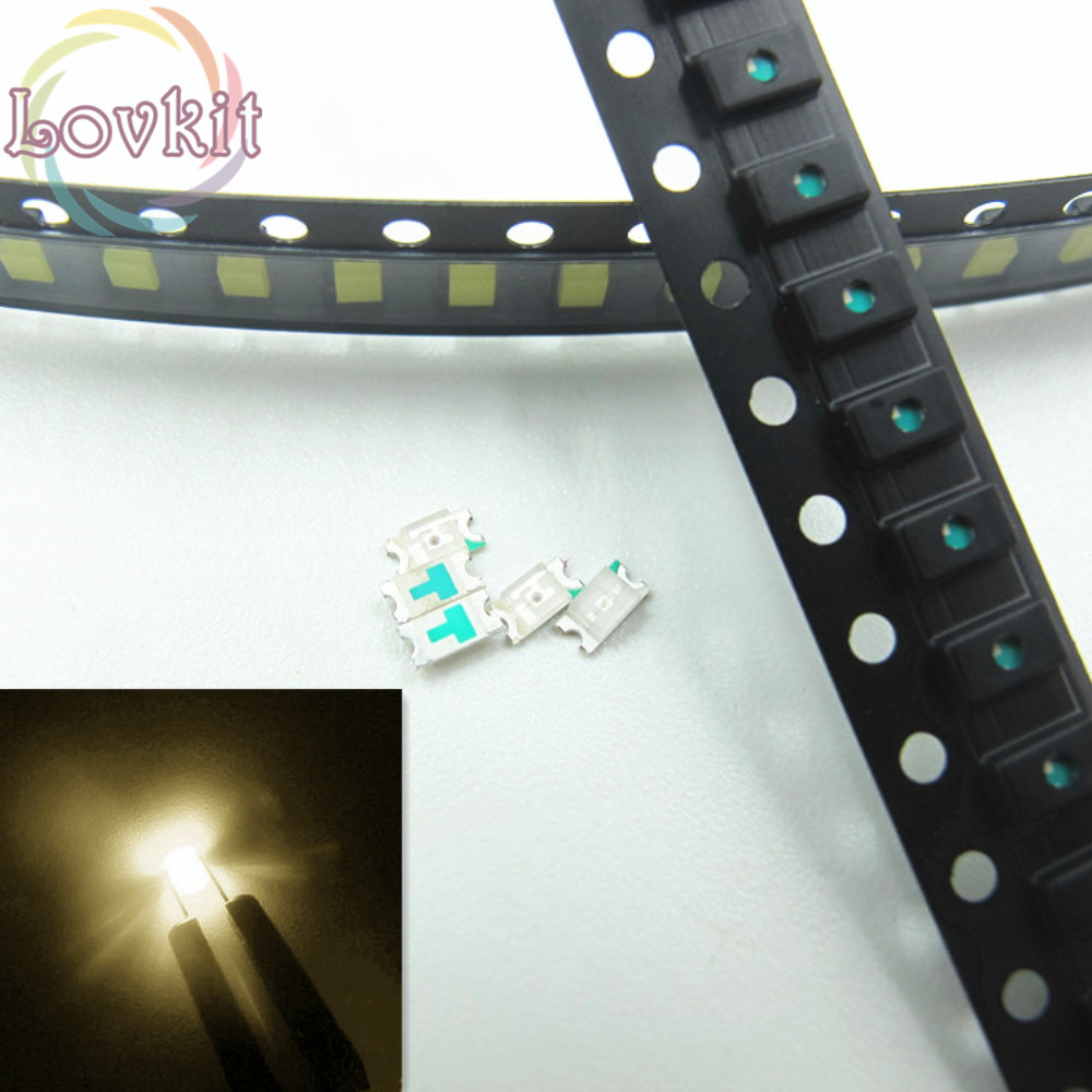 100pcs 0603 SMD Warm White led Super Bright SMT LEDS Light Diode 2800-3500K High Quality Chip lamp beads DIY Retail