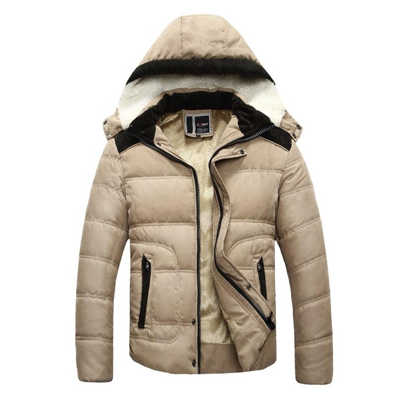 ФОТО 2017 winter jacket men Plus velvet warm wind parka 3XL plus size solid color high quality hooded Outwear winter coat male MZ657