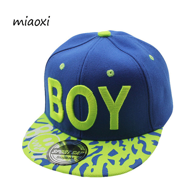 miaoxi Top Fashion Hat Boys Child Letter Sun Baseball Cap Summer Snapback Adjustable Hip Hop Children Hats Various Colors Caps
