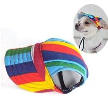Летняя кепка для собак, уличная парусиновая шапка для собак, солнцезащитные аксессуары для маленьких собак