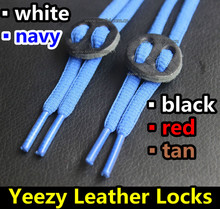 2016 New Sneaker Shoes Genuine Leather Locks~5 colors~100pairs/lot~Shoes Accessories~Air Yeezy Leather Stopper~DHL FREE SHIPPING