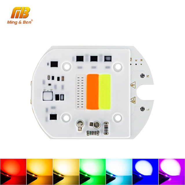 LED RGB COB Chip 30W AC 220V 233V Smart IC No Driver DIY For LED Floodlight Decoration Red Green Blue Alternation Colorful Lamp