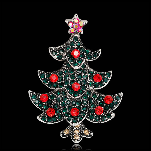 27d641c4226 Online Shop Antique Vintage Style Multicolor Rhinestone red Crystal Merry Christmas  Tree Brooch Pins Christmas Day Gift | Aliexpress Mobile