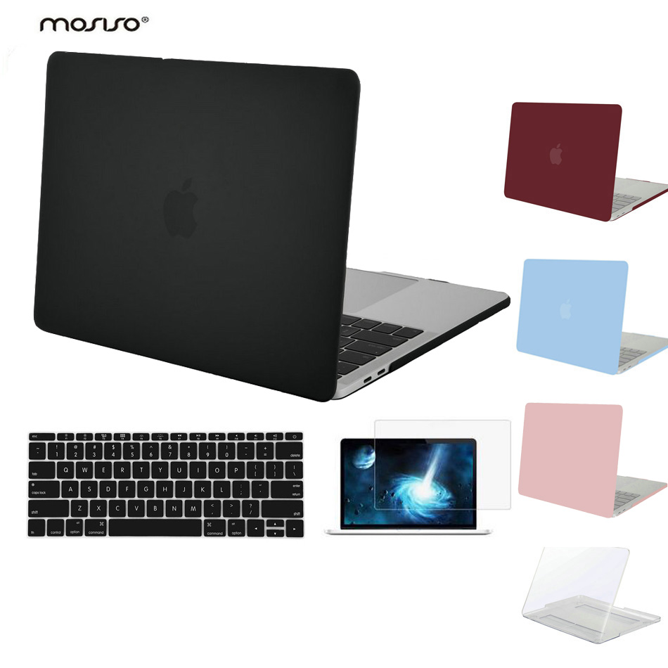 MOSISO for Macbook Pro 13 Touch Bar 2016 2017 Pro15 A1707 Clear Matte Hard Case Cover