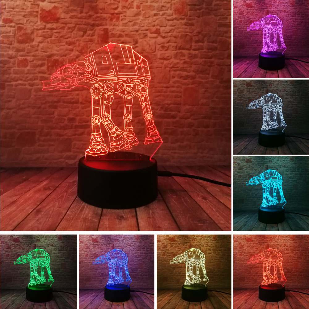 Kreative Geschenke Star Wars Lampe 3D Nachtlicht Transport Hunde USB Led  Tisch Schreibtisch Lampara Kind Kinder Schlafzimmer Wohnkultur Beleuchtung