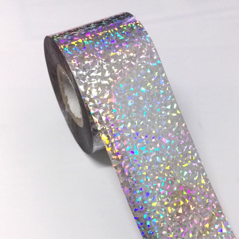 1Roll 120M*4CM Holographic Nail Transfer Foils Laser Silver Cat's Eye Nail Art Stickers Manicure Water Transfer Foils JH12 1roll 4cm 120m laser rose gold nail transfer foil stickers nails art decorations manicure declas for nails accessories