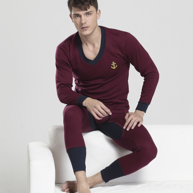 Winter Men's Warm Long Johns Thermal Underwear Sets Male High Quality Cotton Sexy Stretch Thick Plus Long Johns For Man