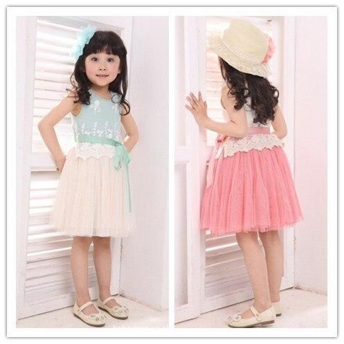 clearance 1-4Y sally chiffon knee-length ball gown girl dress kids girl summer clothing baby girl princess dress kid apparel