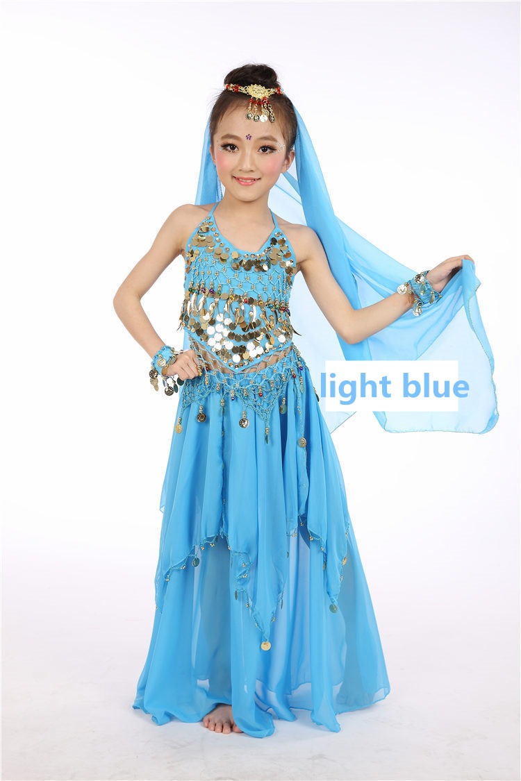 Aliexpress.com  Buy 6 Colors Kids Belly Dance Costume Skirt Pants Belt Top Fan Veil Bollywood Indian Dress Dancing Bellydance Hip Scarf Costumes C28 from