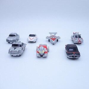 Image 3 - Anime 1/16 Scale Painted Figure Ultraman Cars 7pcs/set Mini Action Figures Inertia Carriages PVC figure Toys Brinquedos 5CM
