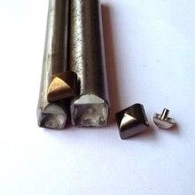 DIY Пирамида заклепки инструмент барабан пуансон для заклепок набор арочные квадратная игла монтажные абразивы формы 8 мм 10 мм 12 мм