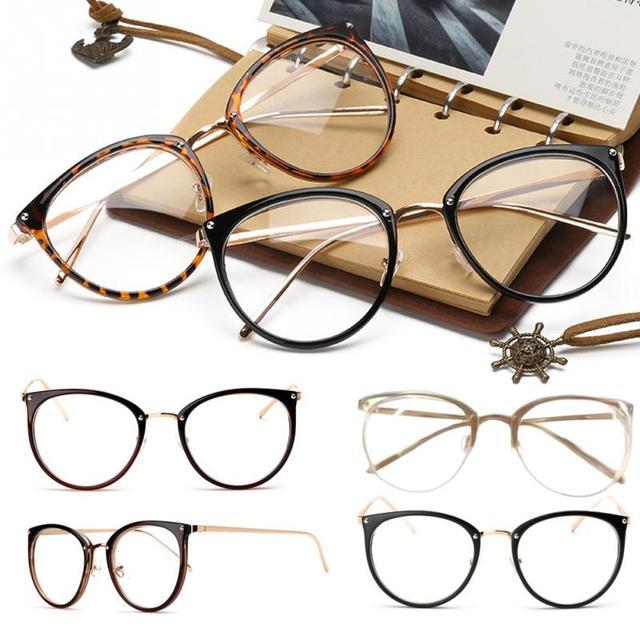 4b8a01c25 Das mulheres dos homens unisex Do Vintage Decoração Óculos Ópticos Quadro  miopia óculos óculos oculos de