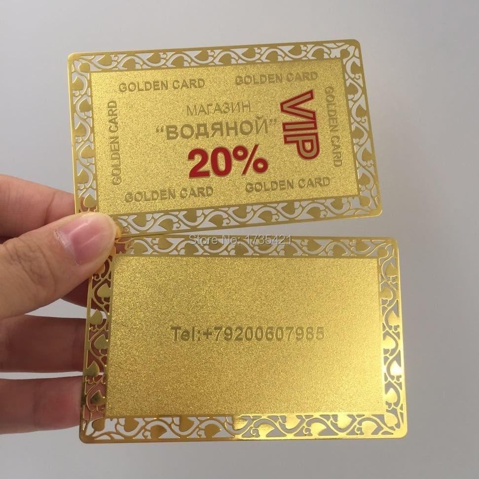 Discount Brass Metal VIP Cards
