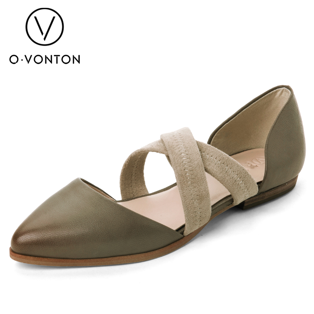 Women flats genuine leather shoes womens summer shoes pointed toe flats ladies cross elastic band footwear for pregnant women women flats genuine leather shoes womens summer shoes pointed toe flats ladies cross elastic band footwear for pregnant women