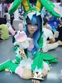 Date A Live Yoshino Cosplay Costume Green Hooded Coat Halloween Costumes for Women Four Yoshino elves Coat dress