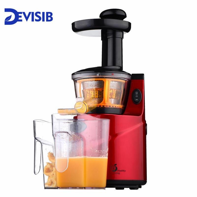 Lento Juicer 250 W Frutas E Legumes Extrator de Suco de Baixa Velocidade Lenta Juicer Frutas Beber Máquina Para Casa