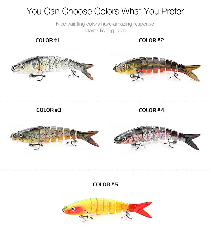 8 Segments  Multi Jointed Fishing Hard Lures_8