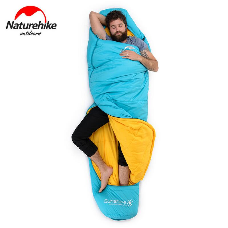Naturehike lightweight sleeping bag adult camping outdoor ultralight autumn and winter Cotton sleeping bags camping accessories naturehike mummy sleeping bag ultralight camping outdoor 3 season cotton winter adult sleeping bags for tourists 1750g 210 80cm