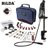 HILDA 220V 180W Dremel Style Electric Rotary Power Tool Mini Drill With Flexible Shaft And Holder