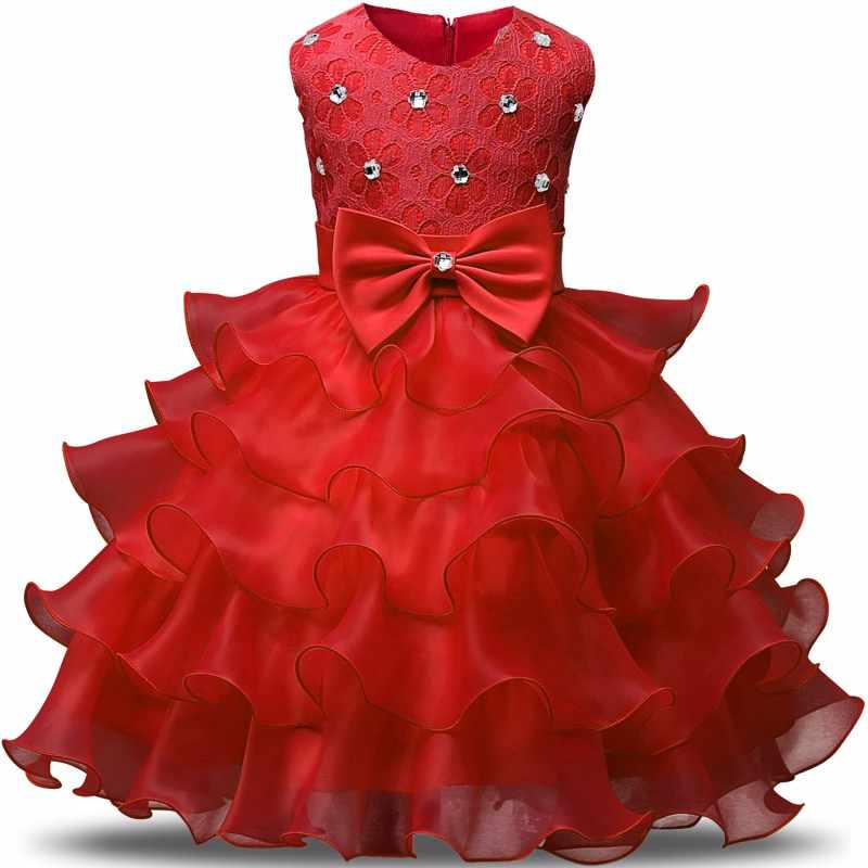 Party Formal Newborn Baptism Dress For Toddler Baby 1 year Birthday Christmas  Dress tutu Gown Baby 5e632c09d
