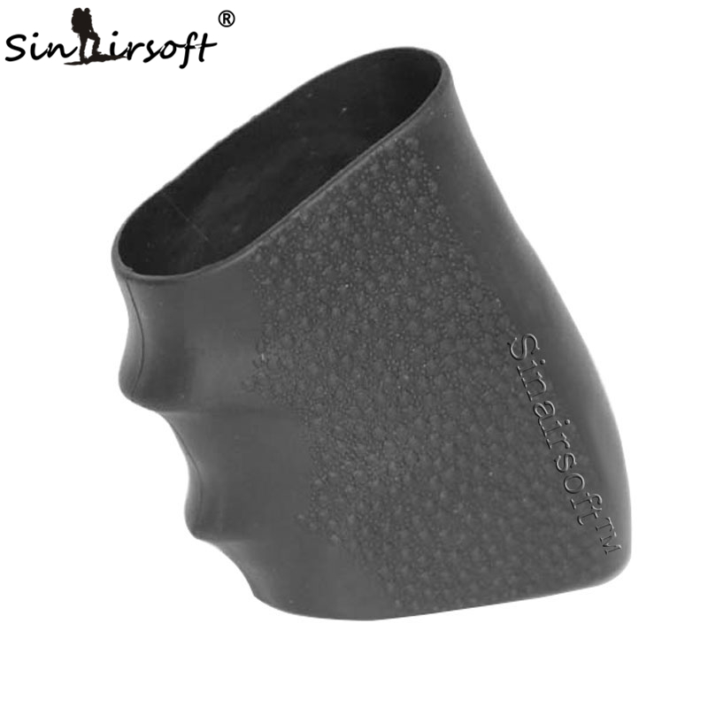 SINAIRSOFT Hot! Tactical Pistol Rubber Grip Glove Cover Sleeve Anti Slip For Most Of Glock Handguns Airsoft Hunting Paintball
