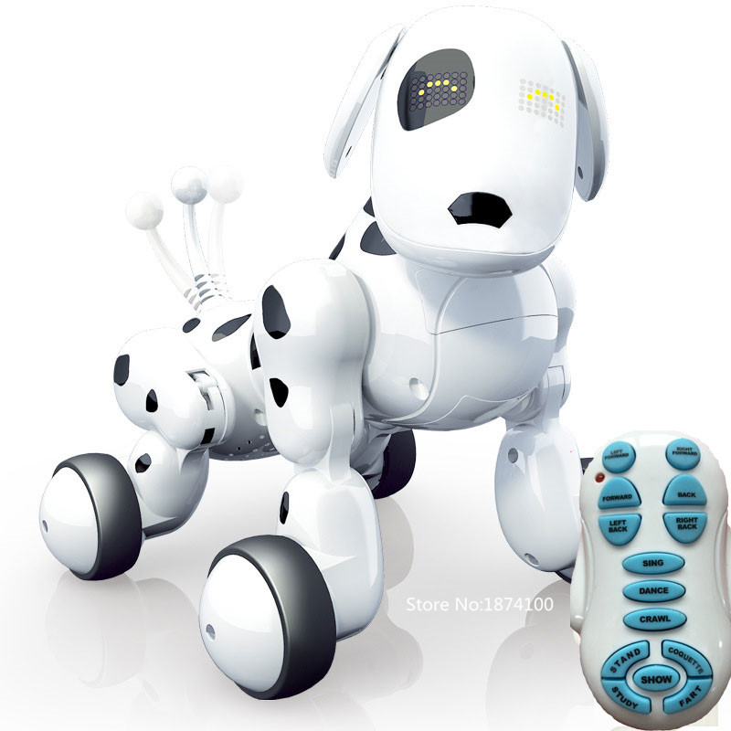 Zhenwei Multi functional Wireless R/C Smart Dog Remote Control Robot Dog Electronic Pet Kids Toy Bionic Intelligence Toy pet safe electronic shock vibrating dog training collar with remote control 2 x aaa 1 x 6f22 9v