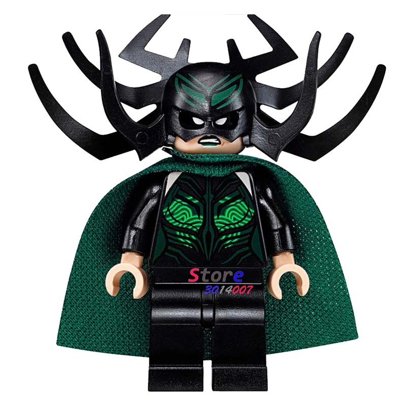 Single  Super Heroes Marvel Dc Comics  Thor Ragnarok Hela Building Blocks Models Bricks Toys For Children Kits