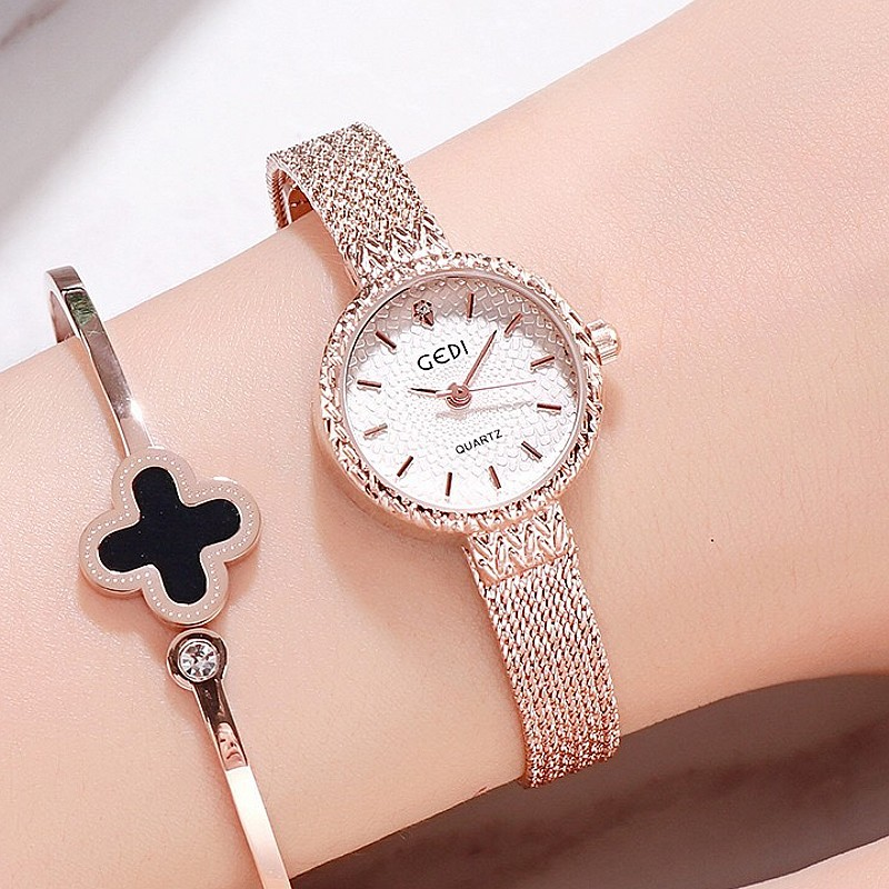 Nouveau luxe or Rose femmes montres élégant petit cadran Bracelet dames montre de mode femme Quartz montres zegarek damski