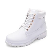 Осенние зимние женские Ботинки Ботильоны новые модные женские зимние сапоги для девочек Женская рабочая обувь Большие размеры