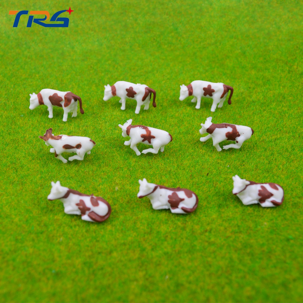 50pcs Scale 1 150 Model Painted Color Brown Farm Animals Cows for Model Architecture Layout 3types