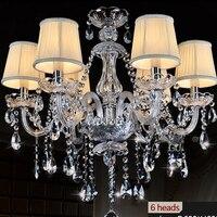 k9 clear crystal chandelier lampshade lustre de cristal para sala de jantar moderne modern kitchen chandeliers tiffany lamp