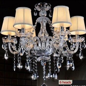 K9 jasny kryształowy żyrandol klosz lustre de cristal para sala de jantar nowoczesne nowoczesne żyrandole kuchenne