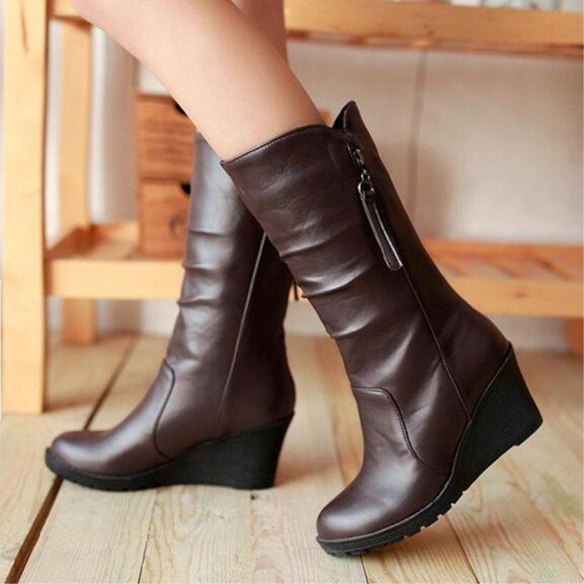 mid-calf women's boots Fashion