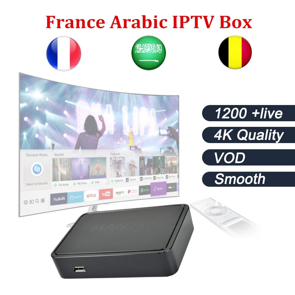 Mag250+French Arabic IPTV Skv IT/DE/UK MBC Be1n +VOD 1200 Channels Linux OS 2.6.23 Processor STi7105 MAG 250 Set Top Box цена и фото