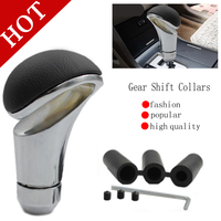 Free Shipping Momo Racing Style Leather Black Car Gear Shift Knob Shifter Lever Universal Fit For
