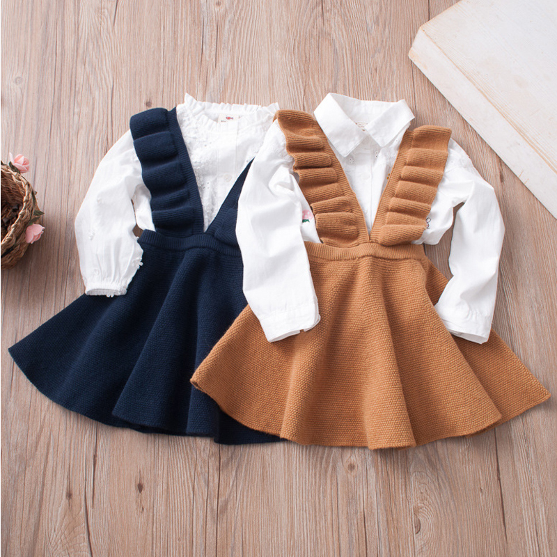 Autumn Baby Girls Dress Fashion Girl Clothing Knit Sweater Baby Girls Knitting Princess Dress Kids For Girl Robe Fille Clothing